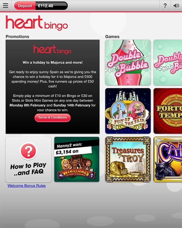 Heart bingo slots
