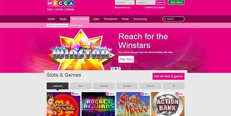 free slots mecca bingo